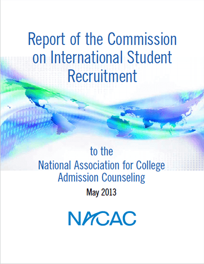 Report of the Commission on International Student Recruitment